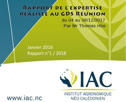 Rapport Mission Réunion - Décembre 2017
